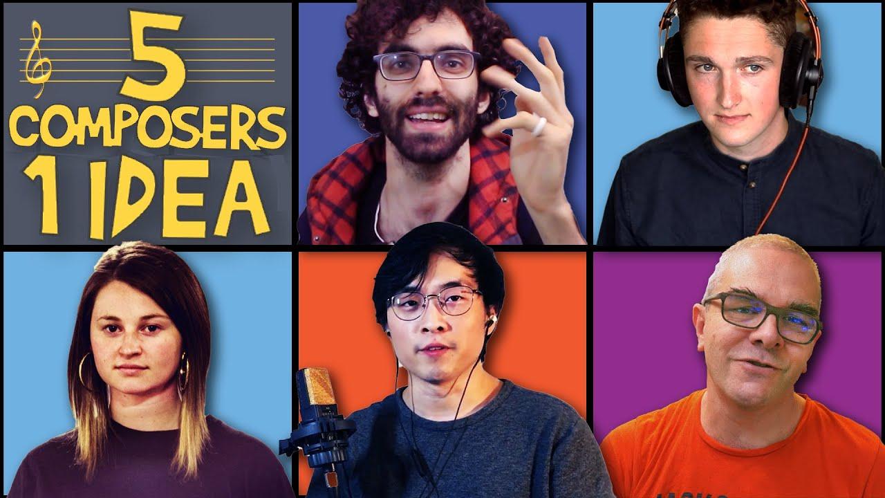 5 COMPOSERS 1 IDEA (ft. June Lee, David Bennett, Ben Levin & No Compliments)