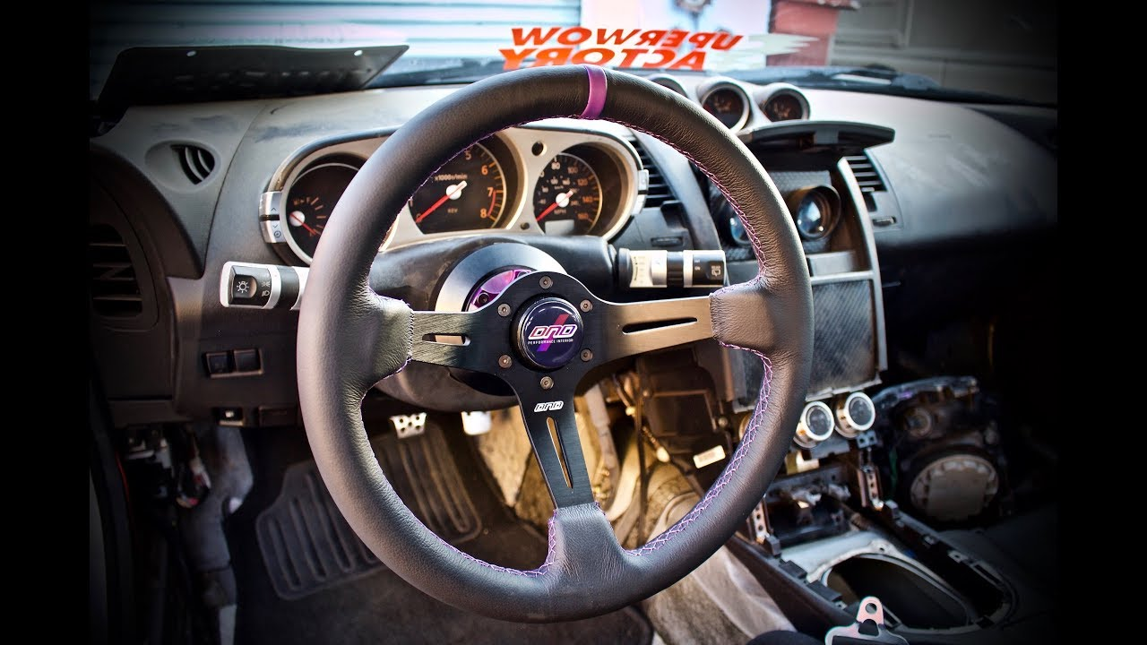 how to install aftermarket steering wheel setup nissan 350z youtube how to install aftermarket steering wheel setup nissan 350z