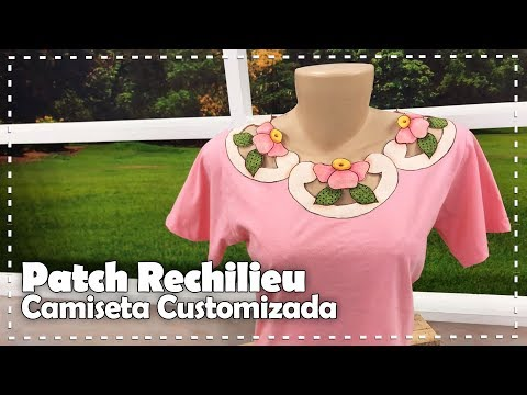 CAMISETA CUSTOMIZADA EM PATCH RICHELIEU com Márcia Caires - Programa Arte Brasil - 11/07/17