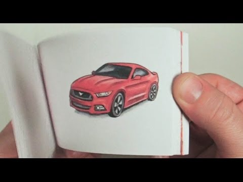 2015 Ford Mustang Hand Drawn Flipbook Commercial