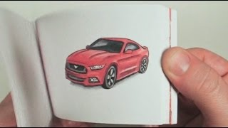 2015 Ford Mustang Hand Drawn Flipbook