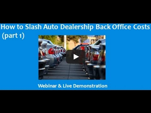Car Dealership Accounting-Cutting Accounting Costs (lesson 1 of 2)