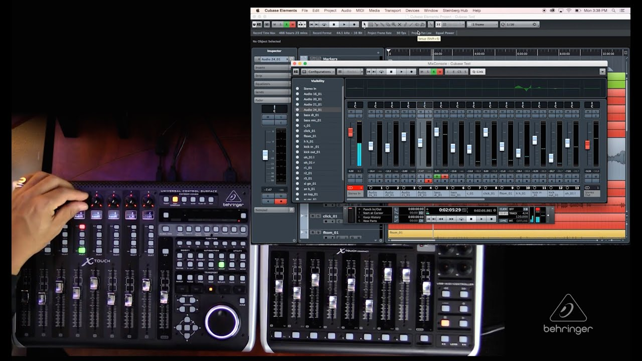 x touch x touch compact how to overview with cubase youtube. Black Bedroom Furniture Sets. Home Design Ideas