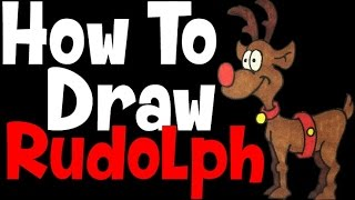 How to Draw: Rudolph (the red nosed reindeer)