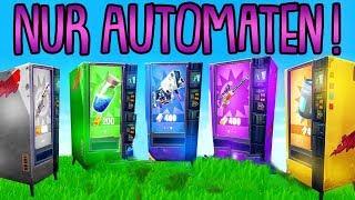 NUR AUTOMATEN CHALLENGE! | (Alles aus Automaten) | Fortnite Battle Royale