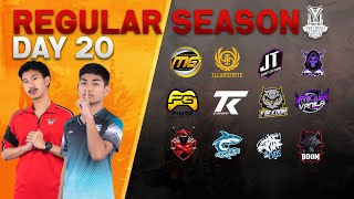 Free Fire Pro League Season 3 : Regular Season Day 20