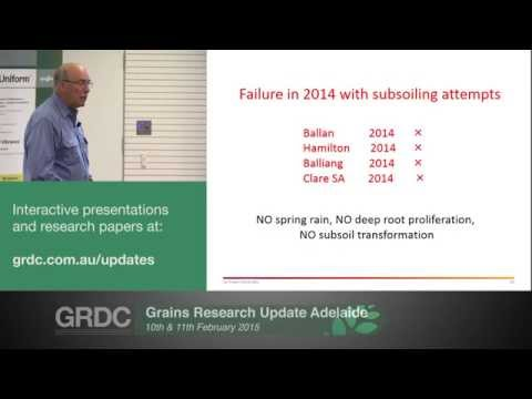 Grains Research Updates 2015 | Adelaide | Subsoil manuring in drier zones - P. Sale