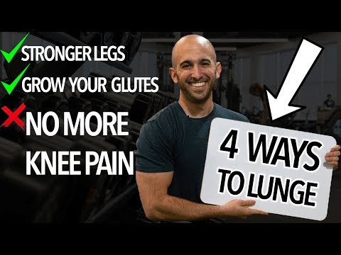 4 LUNGE WORKOUTS FOR BEGINNERS (How to Lunge with Perfect Form)