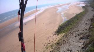 France Normandy Omaha Beach Camping paragliding parapente paramoteur