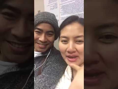 Diễn viên Ngọc Lan đi khám thai cùng chồng Thanh Bình ở Mỹ