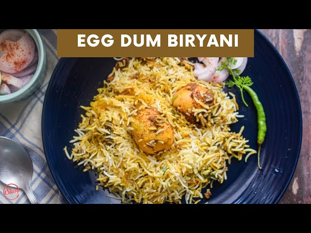 Egg Dum Biryani | Hyderabadi Egg Biryani Recipe