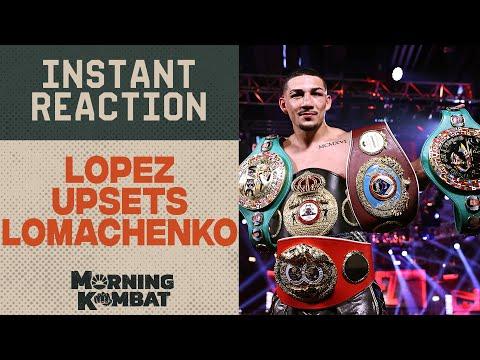 Lopez upsets Lomachenko To Unify Lightweight titles | Instant Reaction | Morning Kombat