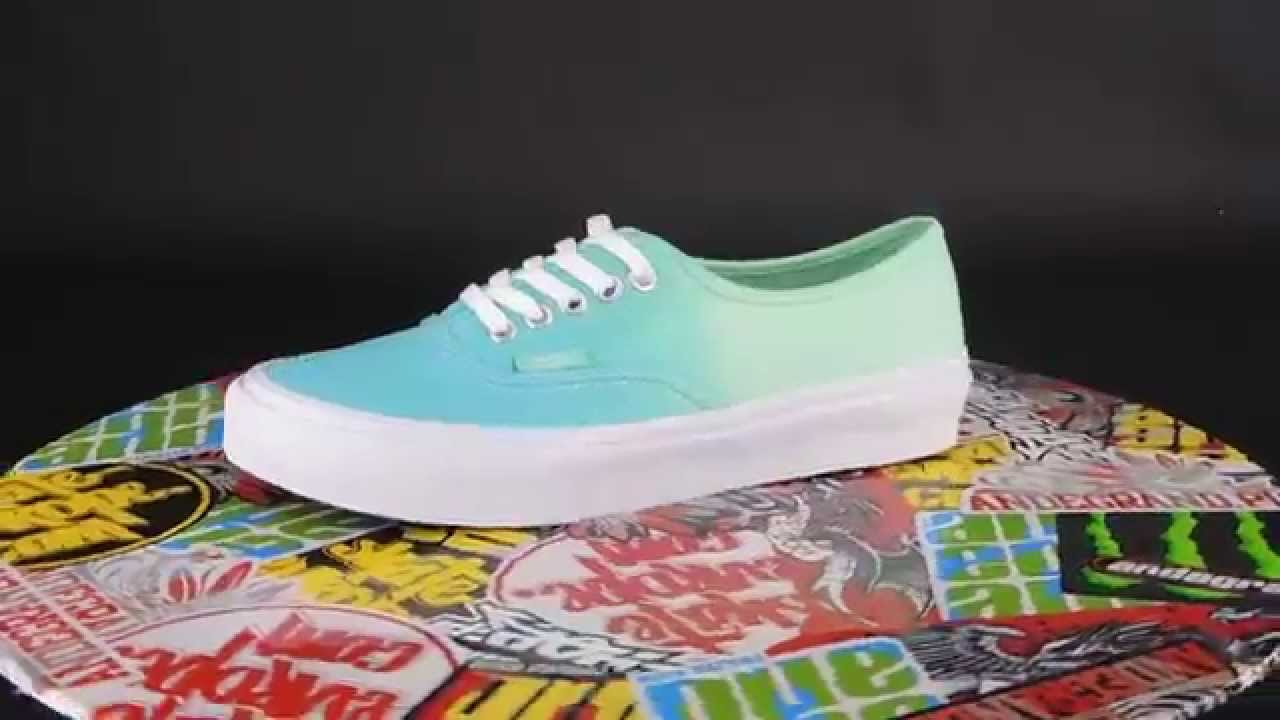 2f7b8f99f87a VANS Authentic Slim  (OMBRE) CLOISONNE  ICY GREEN  Classic collection -  YouTube