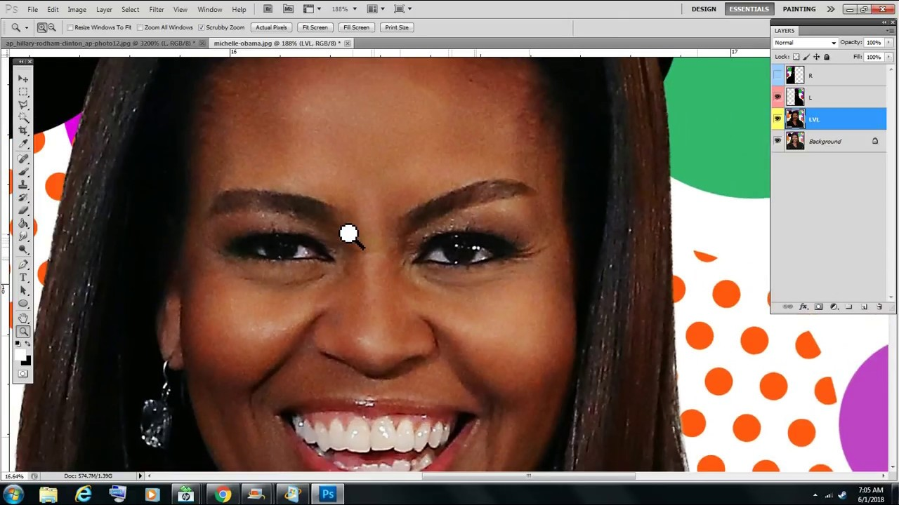 michelle obamas real face youtube