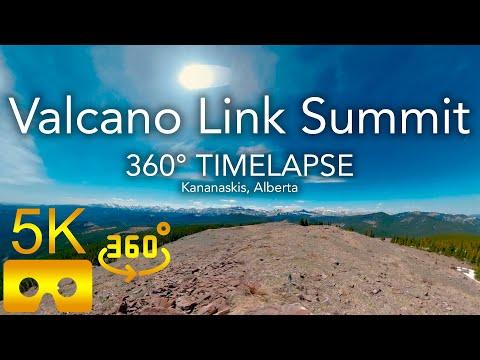 360° Timelapse | Volcano Link Summit | Bluerock Wildland Provincial Park