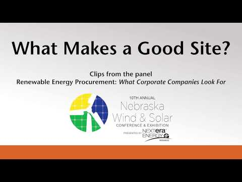 Wind Solar Conference - What Makes A Good Site