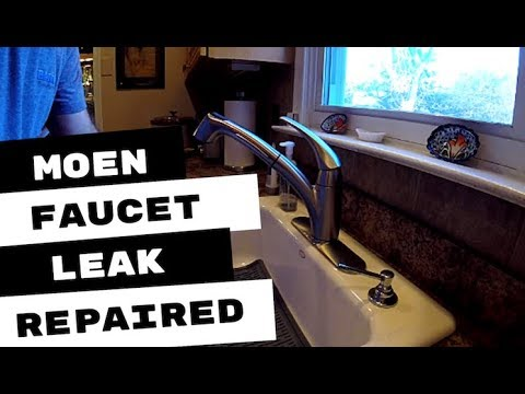 moen kitchen faucet leaking at handle connection