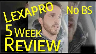 Lexapro 5 week review. NO BS