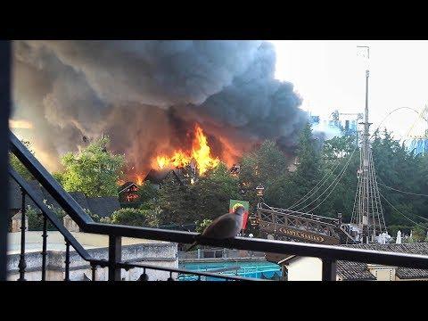 Un incendio causa daños millonarios en un parque de atracciones alemán