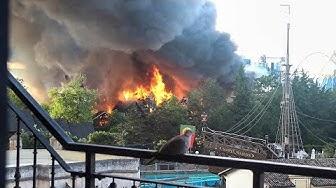 Großbrand im Europa-Park I Aufnahmen aus Rust (26.05.18)