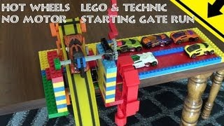 Hot Wheels Lego & Technic No Motor Starting Gate Run