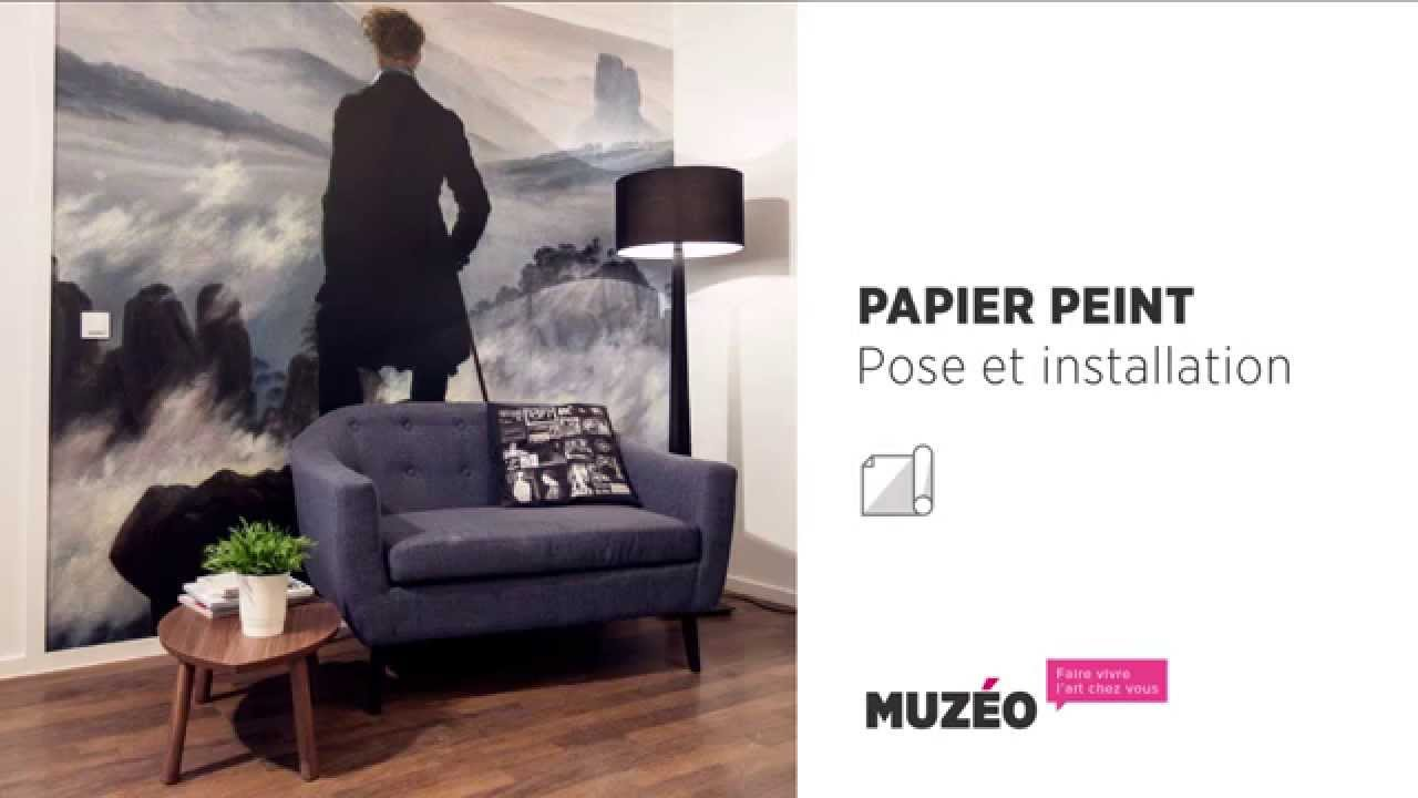 pose du papier peint muz o youtube. Black Bedroom Furniture Sets. Home Design Ideas