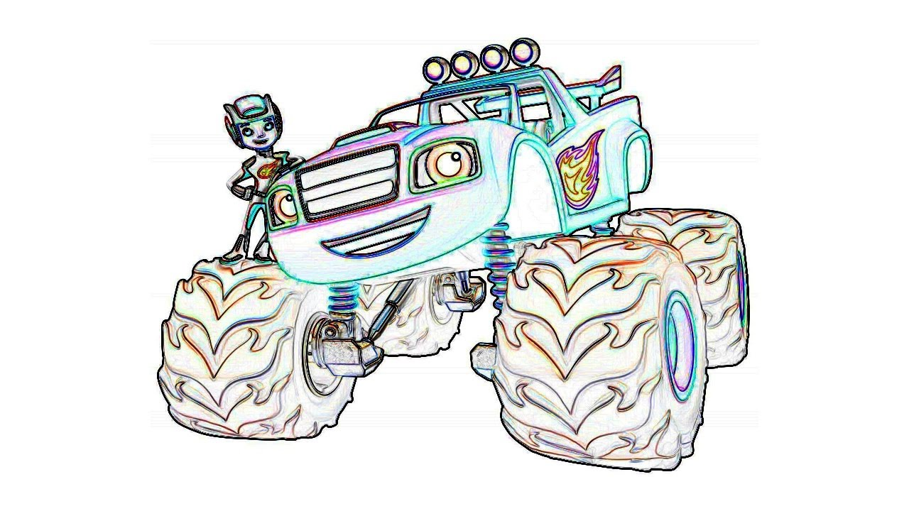 Blaze And The Monster Machines Coloring Pages For Kids Book