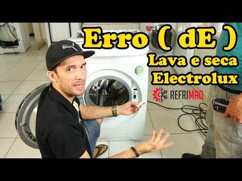 Erro (dE) lava e seca Electrolux lsi - lse