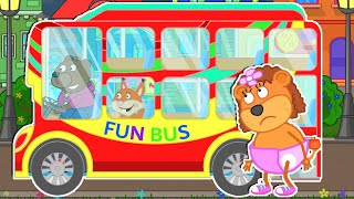 Lion Family Official Channel   Fun Bus   Cartoon for Kids