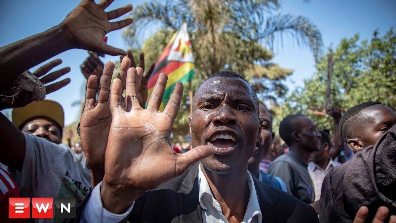 Zimbabwe Protesters March on the Zimbabwe Electorate Commission.