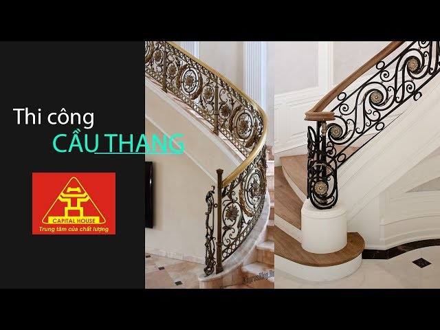 Thi công công trình cầu thang sắt mỹ thuật tại Hà Nội