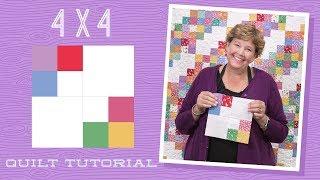 جعل 4 × 4 لحاف مع جيني!