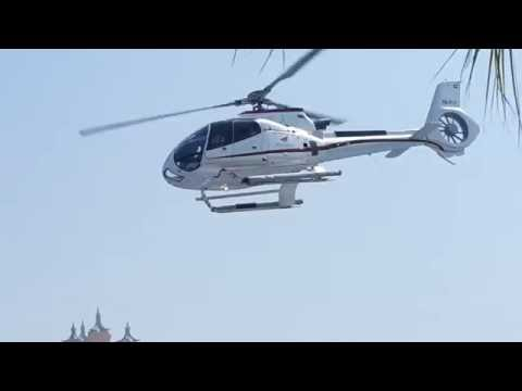 Atlantis Helicopter take off from Alpha Tours Helipad in Dubai 15.08.2016