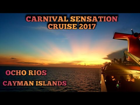 Carnival Sensation Ocho Rios and Cayman island 2017 Part 1