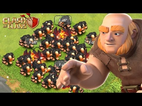 ALL 48 LEVEL 7 GIANTS RAID IN CLASH OF CLANS! - GREAT LOOT! 2015