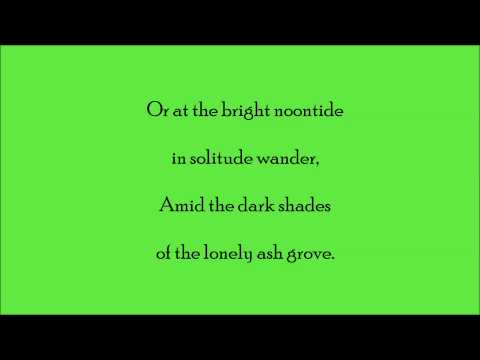 The Ash Grove (Accompaniment & Lyrics) - short version