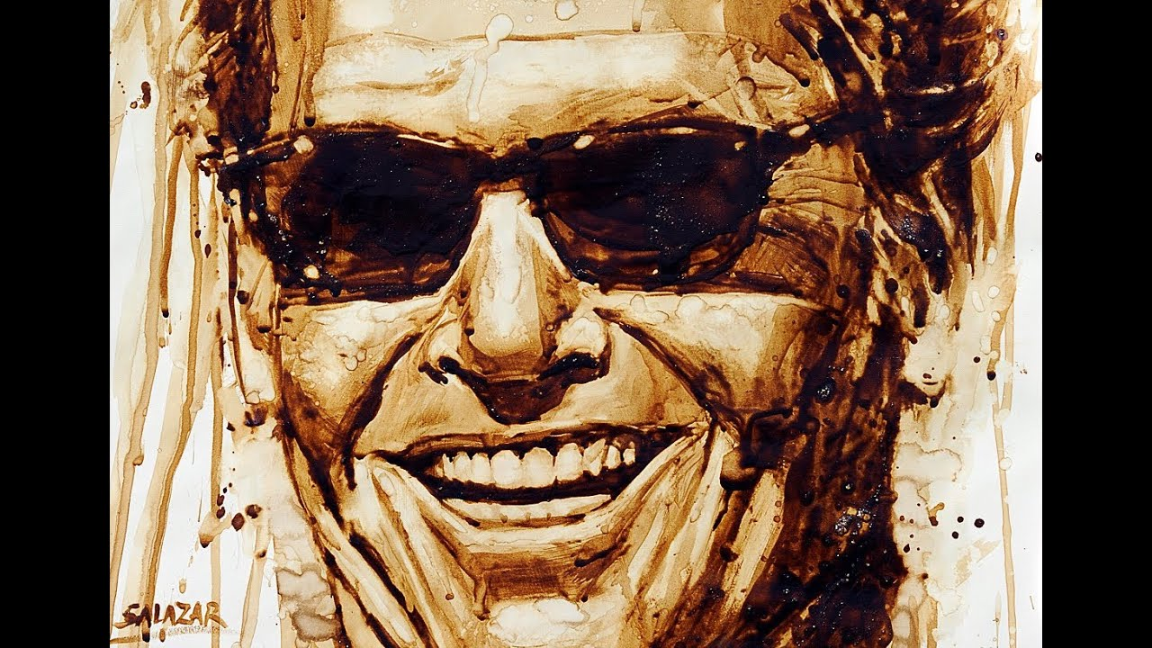 watercolor portrait with coffee jack nicholson youtube