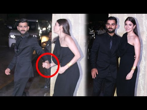 Virat Kohli Anushka Sharma Holding Hands In Public At Manish Malhotra's Birthday Party 2016