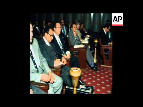 SYND 20 11 77 EGYPTIAN PARLIAMENT CALLED TO DISCUSS SADAT'S VISIT TO ISRAEL