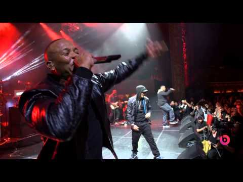 DR  DRE & EMINEM - FORGOT ABOUT DRE (LIVE AT THE BEATS MUSIC EVENT)