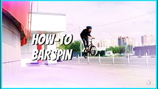how to barspin / как сделать барспин на bmx/mtb с Максом Беспалым