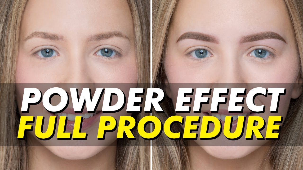 Eyebrow Tattoo Before And After: Powder Effect/Ombré Eyebrow Tattoo Before & After