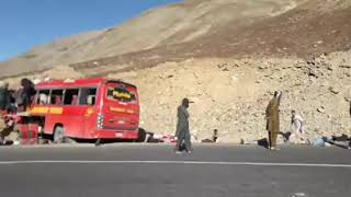 Bus accident near Babusar top||Mashabrum Tours