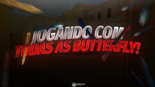 JOGANDO com TODAS as BUTTERFLY do STANDOFF 2