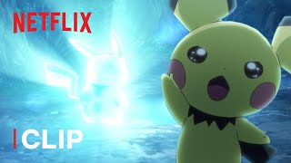 Pichu Evolves Into Pikachu ⚡ Pokémon Journeys: The Series | Netflix Futures