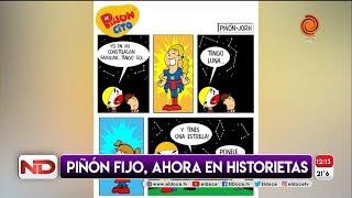 Piñon Fijo presentó su historieta a traves de las redes