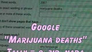 Presciption Drug Deaths over a Million, Marijuana 0, Zero
