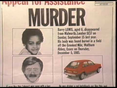 THAMES NEWS -16.4 .86. BARRY LEWIS/JASON SWIFT - POLICE THINK THE MAN WHO CARRIED OUT SEX KILLINGS