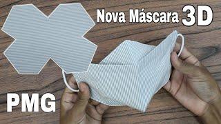 Nova Máscara 3D Com Elástico Ajustável