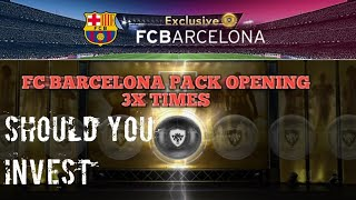 Exclusive Fc Barcelona Pack Opening  3x Times